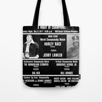 #2-B Memphis Wrestling Window Card Tote Bag