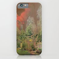 iPhone Cases featuring English Garden Sunset by Judy Palkimas