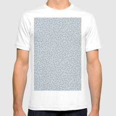 Crystallized (BLUE) SMALL White Mens Fitted Tee