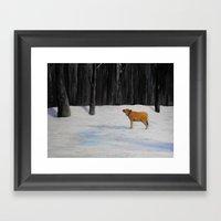 Kylee's Kenyon Calf Framed Art Print
