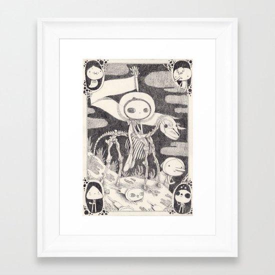 cheval noir  Framed Art Print