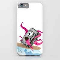 iPhone & iPod Case featuring Monster Camera Surfing by Hazeart