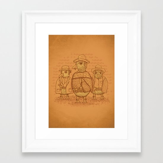 The Good,The Bad and The Ugly.... Ducklings Framed Art Print