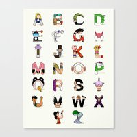 DB Alphabet Canvas Print