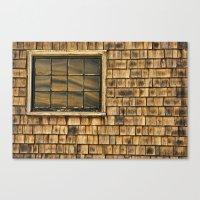 Window And Cedar Wall Canvas Print