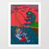 Fishin' Time! Art Print