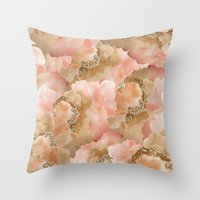 Gold In The Clouds Throw Pillow