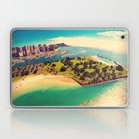 Ala Moana Beach Park, Magic Island, and Diamond Head  Laptop & iPad Skin