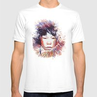 MONGOLIA Mens Fitted Tee White SMALL