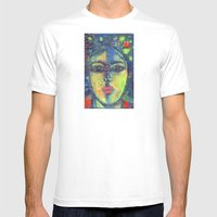 Face#3 Mens Fitted Tee White SMALL