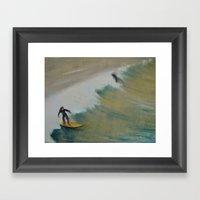 Surf San Diego Framed Art Print