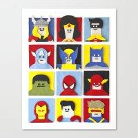Felt Heroes Canvas Print
