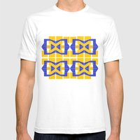 Go Blue Mens Fitted Tee White SMALL