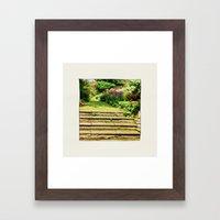 A Summer Garden. Framed Art Print