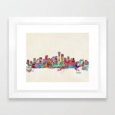 Seattle Washington Skyli… Framed Art Print