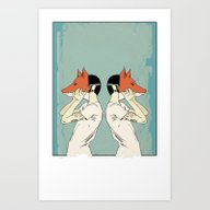 Foxes Print Take 2 Art Print