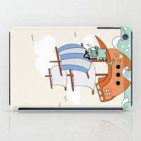 Dinosaur on a ship iPad Case