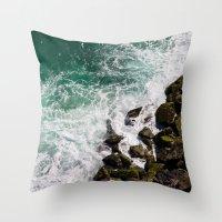 Sea and Rocks Throw Pillow
