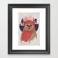 Ewok Framed Art Print