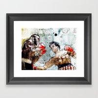 Boxing: Rocky Balboa Vs … Framed Art Print