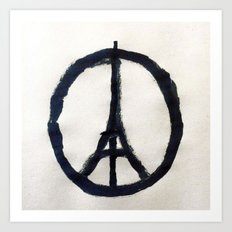 Peace for Paris Art Print