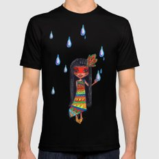 A menina que chovia SMALL Black Mens Fitted Tee