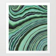 Mineralicious~Mint Tourm… Art Print