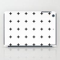 Black Plus On White /// … iPad Case