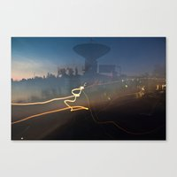 Antenna Flowing Canvas Print