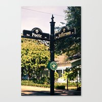 Cajun Crossroads. Canvas Print