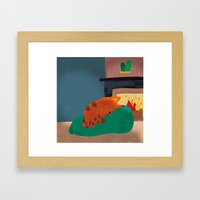 A Nice Winter Snooze In … Framed Art Print