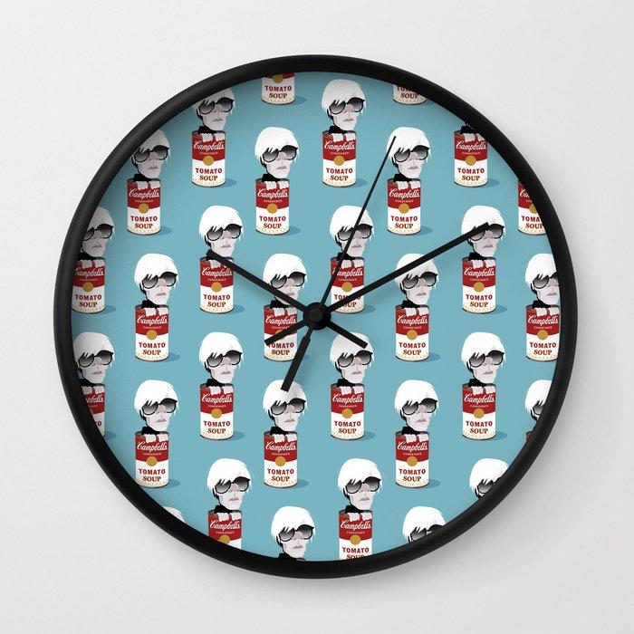 Andy Warhol Wall Clock by Vainuidecastelbajac | Society6