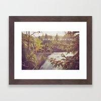 Seek Out Adventure. Framed Art Print