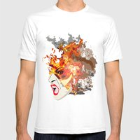 Fire- from World Elements Series Mens Fitted Tee White SMALL