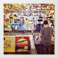 Record Store Canvas Print