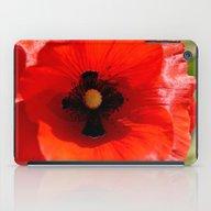 Poppy Flower iPad Case