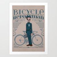Bicycle Repairman Art Print