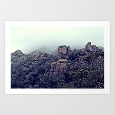 The Climb to Wineglass Bay, Tasmania Art Print