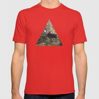 The Modest Moose Mens Fitted Tee Red SMALL
