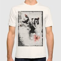 Lolly Crow Mens Fitted Tee Natural SMALL