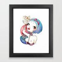 Flower Blood Framed Art Print