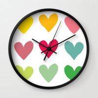 Heart pattern art  Wall Clock