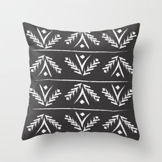 charcoal wreath Throw Pillow