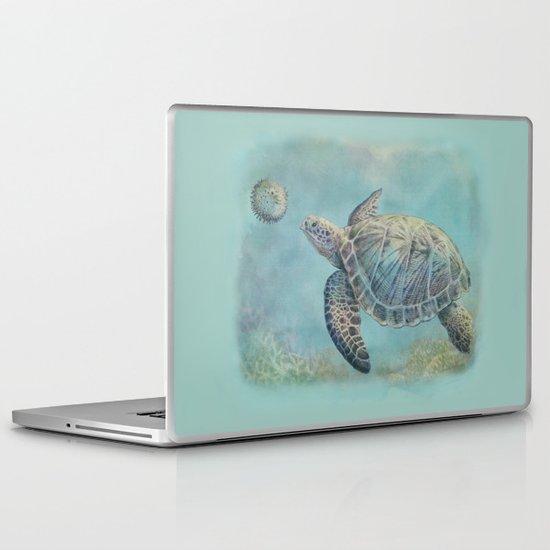 A Curious Friend (sea turtle variation) Laptop & iPad Skin