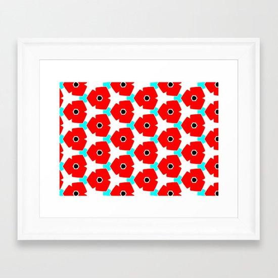 Herweije Retro Flower Pattern Framed Art Print