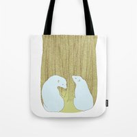 bears in the forest Tote Bag