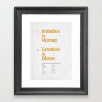 Imitation & Creation Framed Art Print