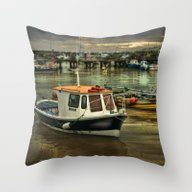 Throw Pillow featuring Harbour Reflections by Tarrby