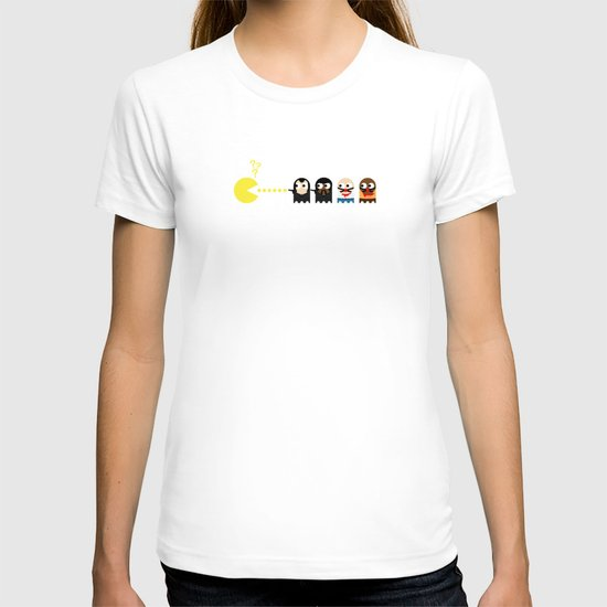 Pacman with Pulp Fiction Ghosts T-shirt