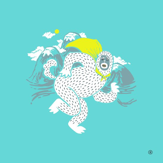 Save the Yeti Art Print